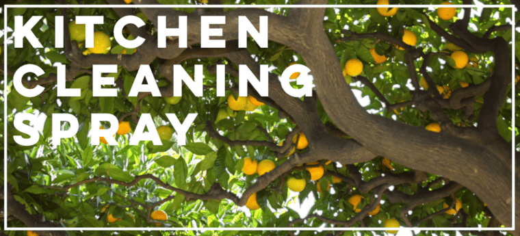 Make your own kitchen cleaning spray